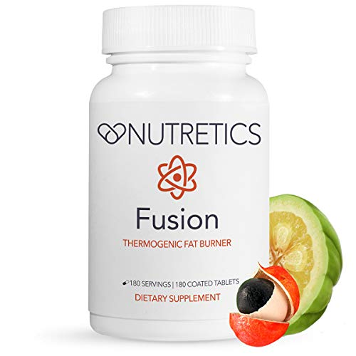 Nutretics Fusion Thermogenic Fat Burner for Men and Women - Weight Loss Supplement/Diet Pills Support Fat Burning,Muscle Preservation,Boosted Metabolism,Clean Energy & Appetite Suppression,180 Tablets