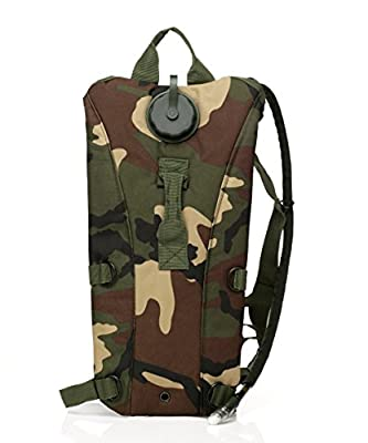 US Army 3L 3 Liter (100 ounce) Hydration Pack Bladder Water Bag Pouch Hiking Climbing Survival Outdoor Backpack
