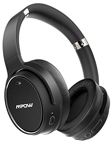 Cuffie Bluetooth 5.0 Cancellazione Attiva del Rumore Ibrida, Autonomia 100 ore, Mpow H19 Cuffie Wireless Over Ear con Audio Hi-Fi e Bassi Profondi, Cuffie Pieghevoli super Comode per Cellullari/PC/TV