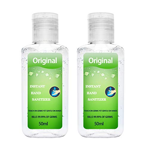 Price comparison product image Anglewolf Portable Household Cleaning Dvanced Gentle Hydration Hand Sanitizer Soothing Gel(2pcs Green, 50ml)