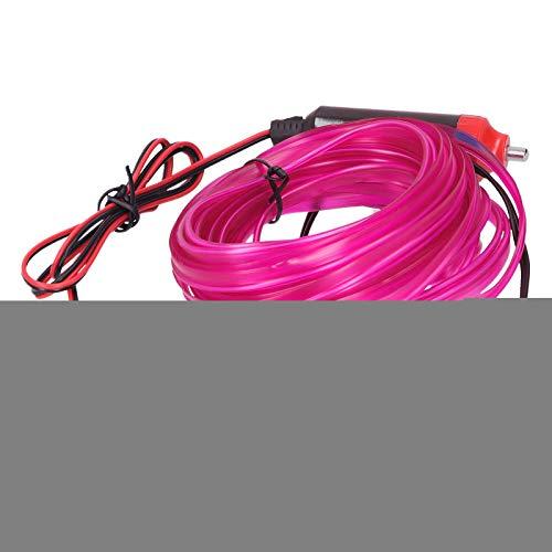 Auto-LED-Streifen, wasserdichte Innenbeleuchtung für Autos, Seilrohrstreifen, EL-Draht, für Auto-Auto(Pink)