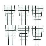 Zhihui 6 tralicci in metallo – 30,6 × 16,5 cm – Supporto per piante rampicanti – Giardino Rankobelisk rivestito – Supporto per piante rampicanti per piante rampicanti