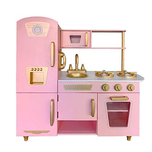 Cocina Infantil de Madera Leire Pink Outdoor Toys 85x33x89 cm Rosa Vintage