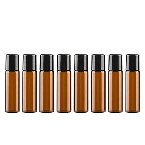 8 Botellas de muestras vacías de Perfume Exquisito Vidrio de Color marrón Mini - Spray Botella de Aceite Esencial Muestra de Perfume tóner hidratante Botella de Viaje (5 ml de Color marrón)