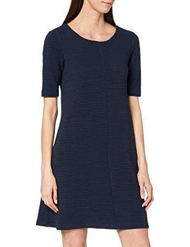 Vila Damen Vicaro A-Shape Jersey Dress-fav Kleid, Blau (Total Eclipse), 38 (Herstellergröße: M)