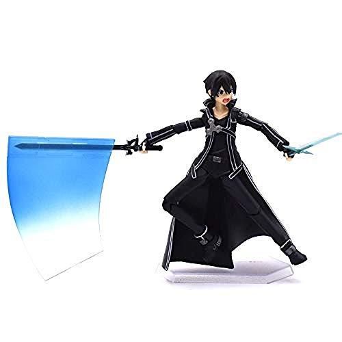 Vbnmda 15 cm Spada Arte Online Action Figure Sao Kirito Figma 174 Modello Bambola con Arma Spada