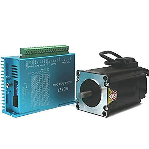 Brightz Stepper Motor, HBS57 Motor de Pasos del Conjunto 2,2N Servo Drive Encoder par Constante Cepillo DC Motor,