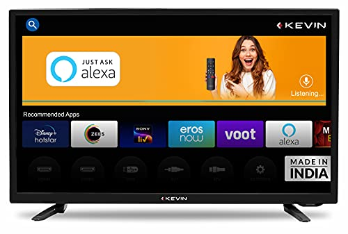 Kevin 80 cm (32 Inches) HD Ready Smart LED TV KN32A (Black) (2021 Model)   With Alexa Built-in