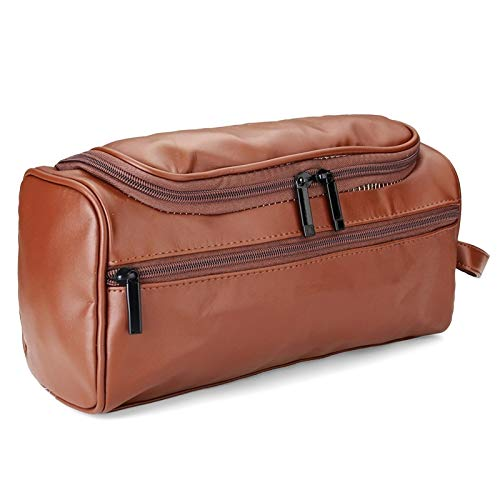 Make Up Bag Travelling PU Leather Women Men Vintage Luxury Toiletry Dopp Kit Bag Beauty Cosmetic Cases Travel Makeup Suitcase Make Up Toiletry Bag