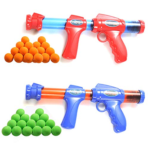 Fstop Labs 2 Pack Blaster Foam Gun Toy, Compatible with Nerf Guns, Hand Toy Guns with 2 Wrist Band, 60 Pieces Refill Soft Foam Bullet Darts and 2...