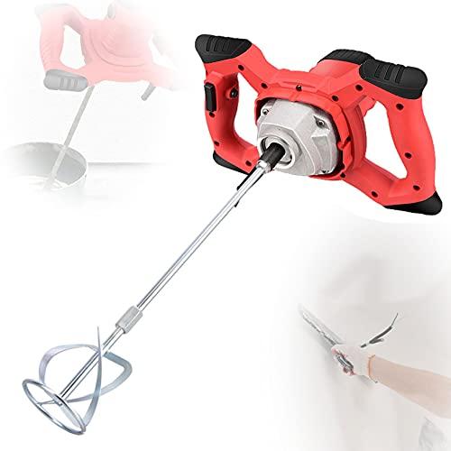 ORPERSIST 2100w Electric Mortar Mixer, Handheld Cement Stirrer, Stirring Machine Plastering Tools, 6 Speed Adjustment, 0-800r/Min, 60cm Stirring Rod for Paint, Plaster, Adhesive