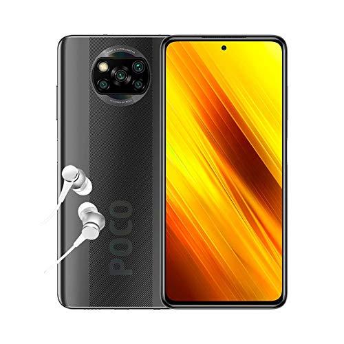 """POCO X3 NFC - Smartphone 6.67"""" FHD+, 6 + 64GB, Snapdragon 732G, 64 MP con IA, Quad-cámara, 5160 mAh, color Gris sombra [Versión ES/PT]"""