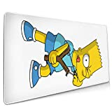 Bart Simpson Cool Printing Anti-Skid Game Office Mouse Pad 15.8x35.5 in