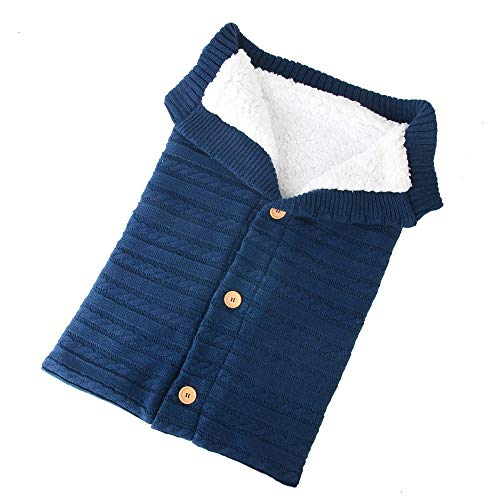 Hahuha Kinderbekleidung,Neugeborenes Baby Decke häkeln Winter warme Wickel Wrap Schlafsack