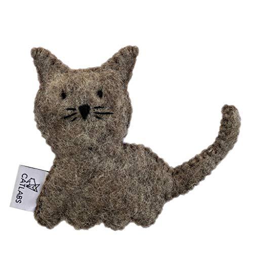CATLABS Premium-Katzen-Spielzeug mit Bio Füllung Schmuse-, Spiel-Kissen aus Filz (Katze Holly Bio-Katzenminze)