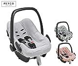 Meyco Baby Housse de protection pour bébé 100% coton respirant pour siège bébé...
