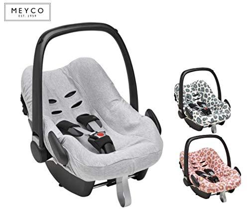 Meyco Baby - Funda universal suave y mullida, 100% algodón transpirable, para portabebés Maxi-Cosi CabrioFix y otros verde Lines - verde esmeralda