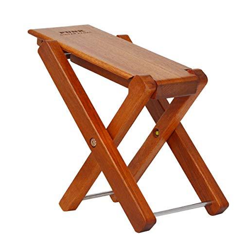 Reposapiés para guitarra de madera maciza con pedal y reposapiés de 4 niveles, ajustable, plegable, de madera, pedal para reposapiés