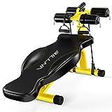 JLYLY Équipement de Fitness Multi-Fonctions ménages Supination Conseil Équipement Abdominale Curl Sport (Noir) Matériel de Fitness (Color : Yellow)