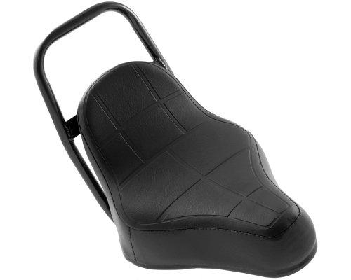 Sitzbank Chopper Sattel schwarz komplett Maxi