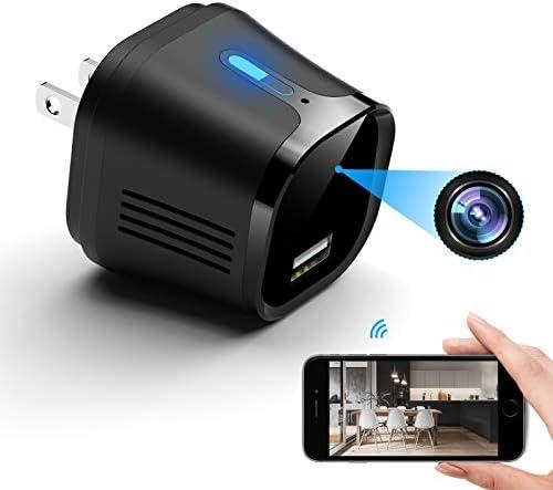 Hidden Camera Charger USB Spy Camera 4K Ultra HD Mini Spy Camera Wireless Motion Detection Alarm product image