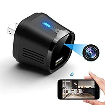 Hidden Camera Charger – USB Spy Camera – 4K Ultra-HD Mini Spy Camera Wireless – Motion Detection Alarm Feature – 166 Degree Wide Angle – No Light Night Vision – Ideal Nanny Cam Spy Cam Protection
