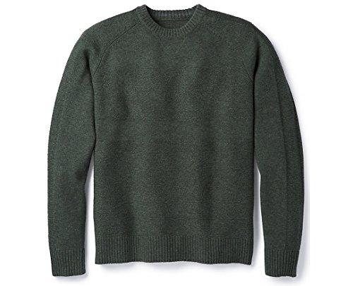 Smartwool Ripple Ridge Crew Sweater Scarab Heather/Medium Gray Heather LG
