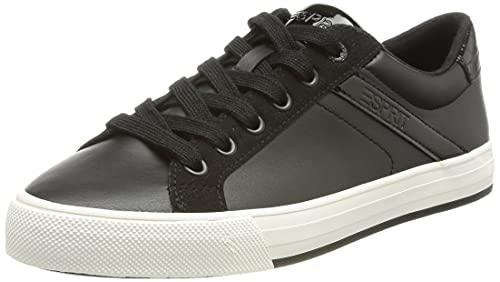 ESPRIT Sneaker aus Materialmix in Lederoptik