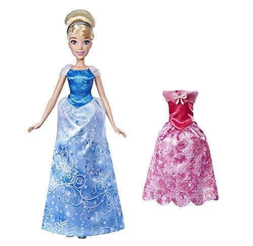 Disney Prinzessin Kleidertraum Cinderella, Kopfschmuck, Akleidepuppe mit Zwei Outfits und EIN Paar Schuhe, ab 3 Jahren