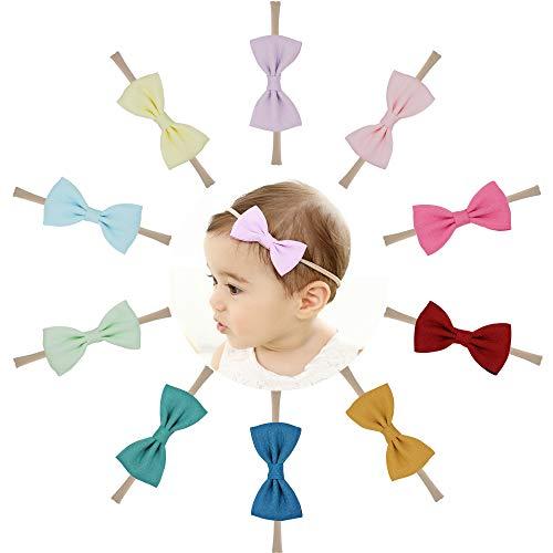 Prohouse Baby Nylon Headbands Hairbands Hair Bow Elastics for Baby Girls Newborn Infant Toddlers Kids