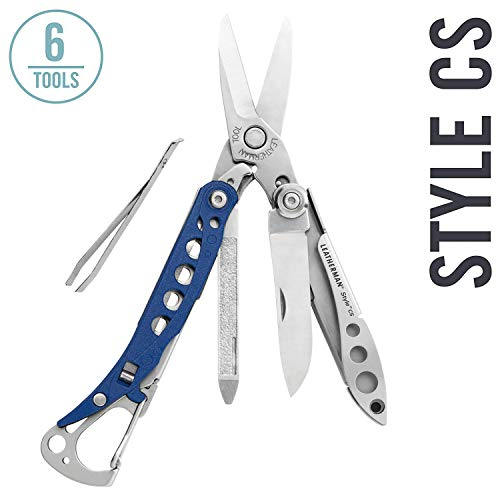 LEATHERMAN - Style CS Keychain Multi-Tool, Stainless Steel - Blue