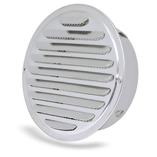 BESLIME Rejilla de ventilación - Rejillas Ventilacion Acero Inoxidable,redondo rejilla de ventilación de aluminio con malla rejilla de escape de cubierta, cocina, cocina campana con malla,100mm