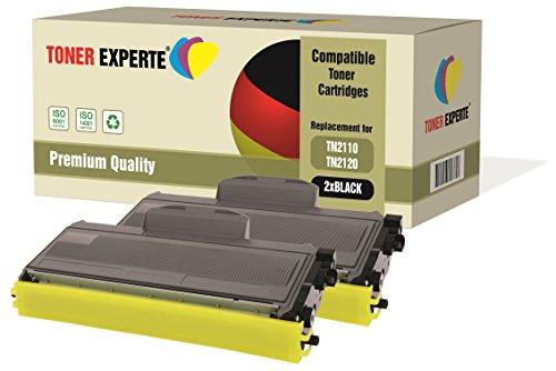 Pack de 2 TONER EXPERTE® Compatibles TN2110 TN2120 Cartuchos de Tóner Láser para Brother DCP-7030, DCP-7040, DCP-7045N, HL-2140, HL-2150, HL-2170, HL-2170W, MFC-7320, MFC-7340, MFC-7440N, MFC-7840W