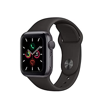 Refurbished  Apple Watch Series 5  GPS 40MM  - Space Gray Aluminum Case with Black Sport Band