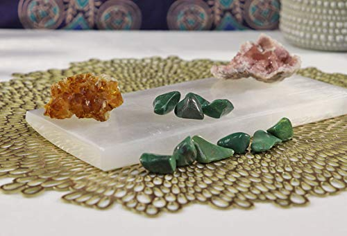 Crystal Hideaway Selenite Charging Plate, Large Natural Selenite Slab