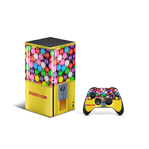 X1 Series X Skin by ZOOMHITSKINS, Same Decal Quality for Cars, Bubble Gum Yellow Colorful Vintage...