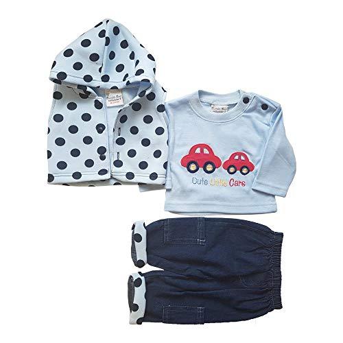 Just Character Lot de 3 cardigans à capuche pour bébé garçon Taille 0 à 9 mois - - 6-9 mois