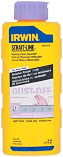 IRWIN Tools STRAIT-LINE Dust-Off Marking Chalk, 6-ounce (4935426)