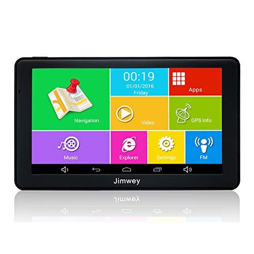 Jimwey GPS Navi Navigation mit 7 Zoll Display und Bluetooth