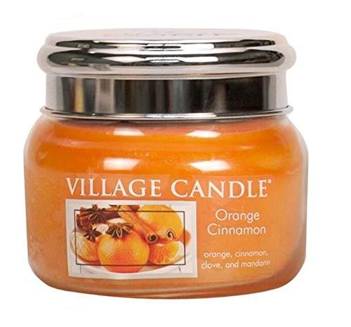 Village Candle - Vaso con Vela perfumada (312 g), Color Naranja y Canela