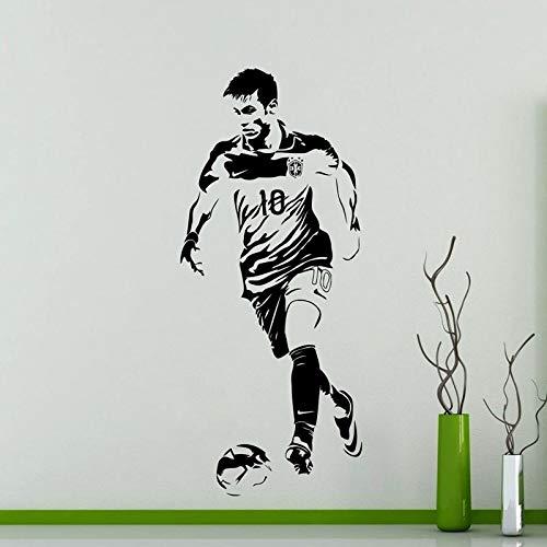 Tianpengyuanshuai Fußballspieler Wandaufkleber Sport Aufkleber Kinderzimmer Dekoration Vinyl Fußballspieler Auto Aufkleber 51X63cm