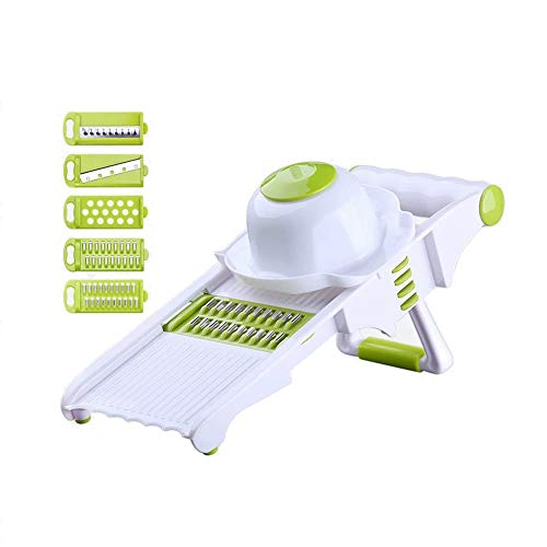 HYANF Kitchen Slicer, Mandolin Slicer and Food Dicer, Multifunctional Cutter, Spiral and Ribbon Slicer, Best for Potatoes, Carrots and Tomatoes