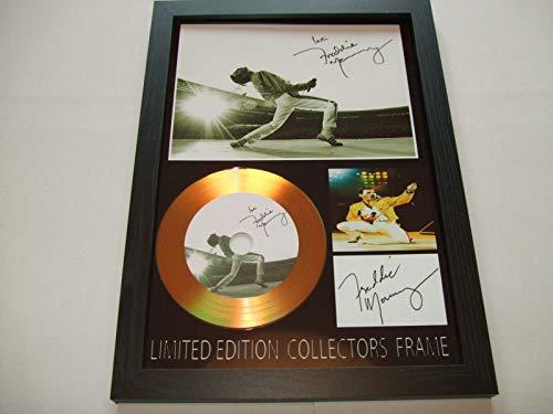 gold disc frames Disco de Oro Firmado por Freddie Mercury