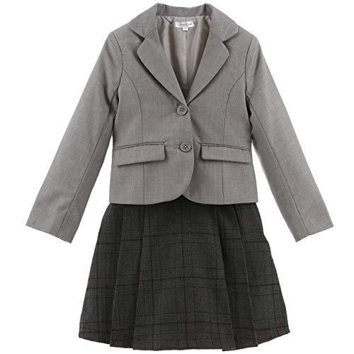 [キャサリンコテージ] 入学 卒業 コンパクトジャケット&チェック柄プリーツスカート 子供服 スーツ PC786 110cm ブラック[BLK] TAK