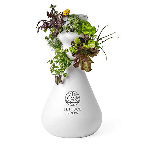 Lettuce Grow 12-Plant Hydroponic System - Hydroponic Growing System, Vertical Garden Outdoor/Indoor Herb Garden, BPA Free & Food Grade Hydroponic Growing System for Herbs, Veggies, Greens (12 Plants)
