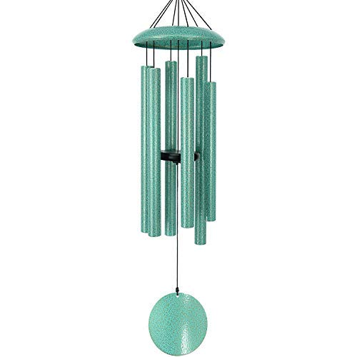 ASTARIN Wind Chimes Outdoor Deep Tone,36 Inch Large Sympathy Wind Chimes Outdoor with 6 Metal Tubes Tuned Relaxing Melody,Beautiful Memorial Windchimes Deep Tone for Mom Dad Grandma,Patina Green