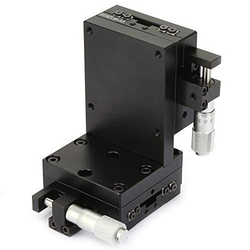 Mesa deslizante de ajuste - Aleación de aluminio de alta precisión, movimiento lineal, mesa deslizante de ajuste de escenario manual, 60 * 60 mm, 2.4x2.4in