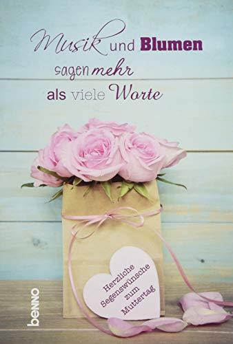Grußkarte »Musik & Blumen sagen mehr als viele Worte«: Herzliche Segenswünsche zum Muttertag