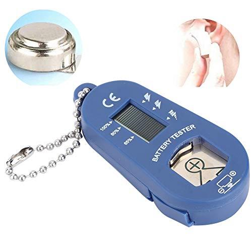 Langlebiger LCD-Bildschirm Leichter Hörgeräte-Batterietester, Mini-Hörgeräte-Batterietester für Hörgeräte