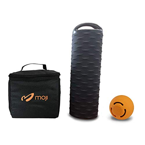For Sale! Moji Heated Foam Roller, Small Massage Ball, and Thermal Bag Bundle – Loosens Tight Musc...